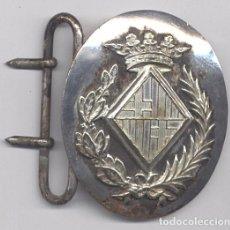 Militaria: AÑOS 30, HEBILLA CATALANA DE LA POLICÍA DE BARCELONA CON EL ESCUDO, CASTELLS, PARA CINTO SAM BROWN. Lote 103624987