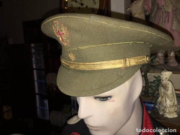 RA175 MILITAR UNIFORME ESPAÑOL GORRA PLATO OFICIAL O SIMILAR LA JAPONESA ALICANTE, AÑOS 30/40 APROX. (Militar - Boinas y Gorras )