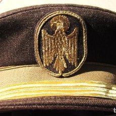 Militaria: ANTIGUA GORRA DE POLICIA NACIONAL,SUCESORA POLICIA ARMADA,SARGENTO,EMBLEMA BORDADO,VALLESA MADRID. Lote 104688919