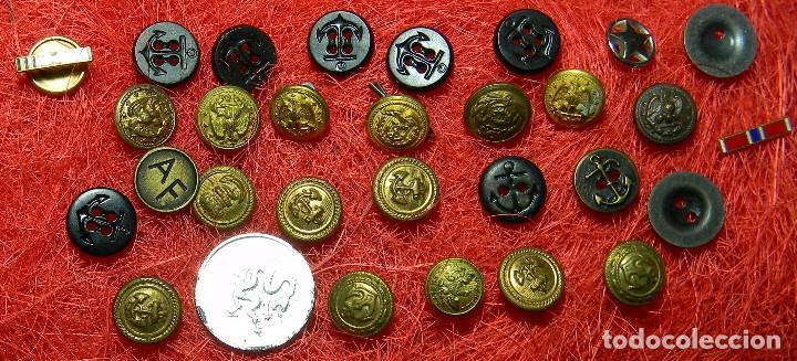 Militaria: Lote de botones originales US Navy - Diametro variado - Foto 3 - 106636251