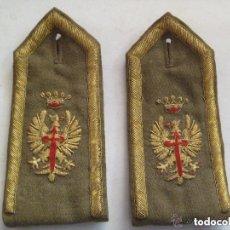 Militaria: PAR DE HOMBRERAS DE GALA DE OFICIAL EJERCITO DE TIERRA , EPOCA DE FRANCO.. Lote 107817363