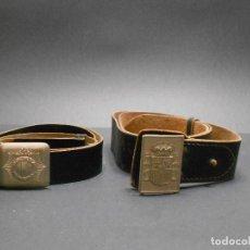 Militaria: DOS CINTURONES POLICIA MUNICIPAL. Lote 109191203