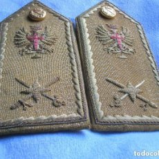 Militaria: MUY ANTIGUAS HOMBRERAS / PALAS BORDADAS DE GENERAL DE BRIGADA. ÉPOCA DE FRANCO.. Lote 109294707