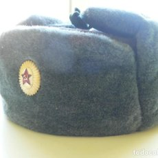 Militaria: AUTENTICO GORRO DE INVIERNO DEL EJERCITO SOVIETICO 1. Lote 110050579