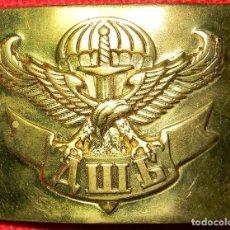 Militaria: UKRANIA - UCRANIA - HEBILLA ORIGINAL - PARACAIDISTAS - CUERPOS ESPECIALES - LATÓN - 75 X 55 MM. Lote 111172043