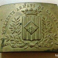 Militaria: HEBILLA DE LOS SOMETENTS ARMATS DE CATALUNYA. Lote 112016231