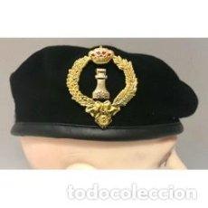 Militaria: ESTUPENDA BOINA DEL REGIMIENTO DE INGENIEROS 1 RING 1 EN COLOR NEGRA TALLAS DE LA 54 A LA 60. Lote 112230659