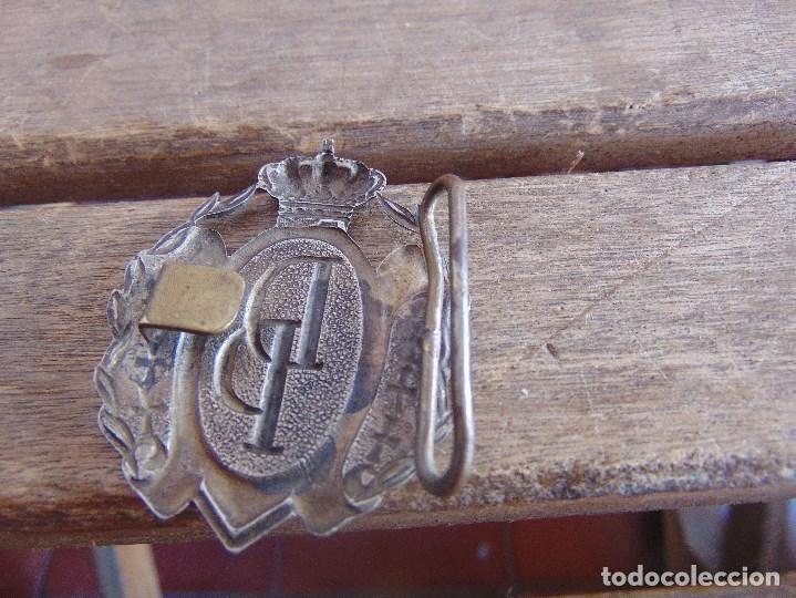 Militaria: HEBILLA MILITAR O RELIGIOSA MARCADA DP CON CORONA REAL - Foto 3 - 112390771