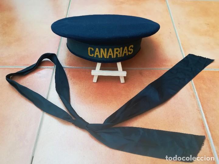Militaria: GUERRA CIVIL ESPAÑOLA,ARMADA,CRUCERO CANARIAS,LEPANTO Y CINTA MARINERO ORIGINAL,FLECHA NAVAL FALANGE - Foto 2 - 112631523