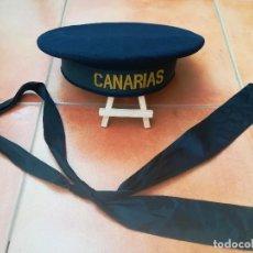 Militaria: GUERRA CIVIL ESPAÑOLA,ARMADA,CRUCERO CANARIAS,GORRA LEPANTO MARINERO ORIGINAL,FLECHA NAVAL FALANGE. Lote 112631523