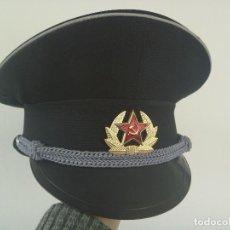 Militaria: GORRA DE PLATO DEL EJERCITO DE LA UNION SOVIETICA , CCCP . COMUNISTA. SIN USAR. Lote 112880943
