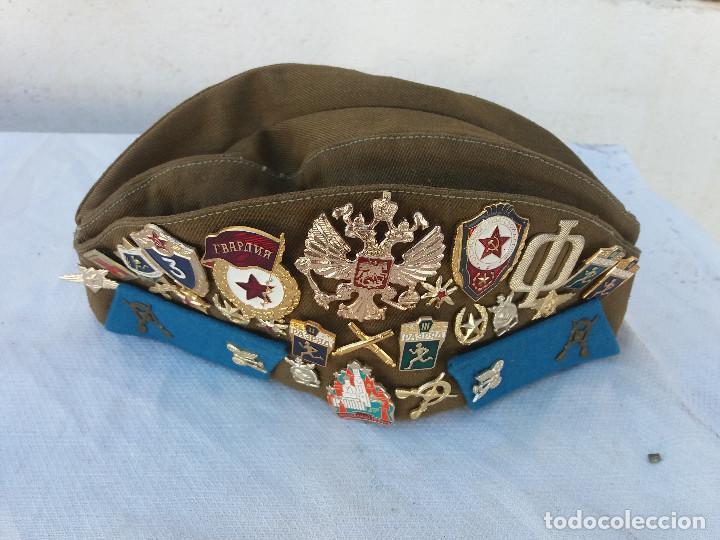 GORRA MILITAR RUSA CON MEDALLAS (Militar - Boinas y Gorras )