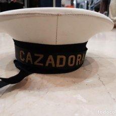 Militaria: BOINA GORRA LEPANTO ARMADA ESPAÑOLA CINTA BUQUE CAZADORA ELOSTEGUI. Lote 113040243