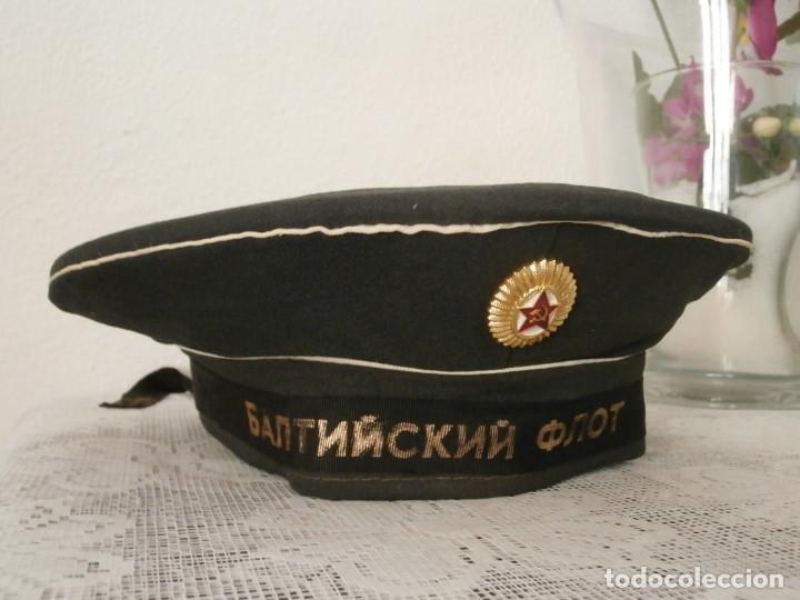 GORRA ANTIGUA MILITAR TIPO LEPANTO BESKOZYRKA ARMADA MARINA DE GUERRA UNIÓN SOVIÉTICA URSS RUSIA (Militar - Boinas y Gorras )