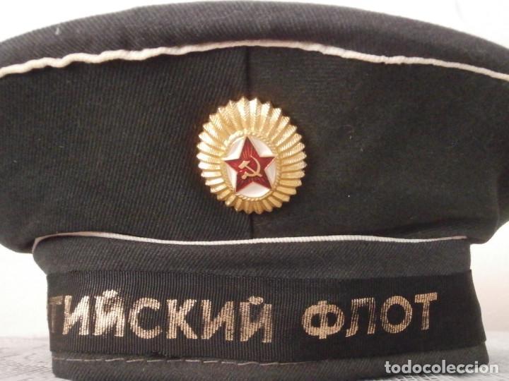 Militaria: Gorra antigua militar tipo Lepanto Beskozyrka armada marina de guerra Unión Soviética URSS Rusia - Foto 3 - 113496351