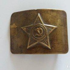 Militaria: HEBILLA SOVIÉTICA RUSA URSS ORIGINAL CON MARCAJE. AÑO 40-50. Lote 114261311
