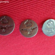 Militaria: 3 BOTONES. INSIGNIA MILITAR. LONDON. METAL.. Lote 114598103