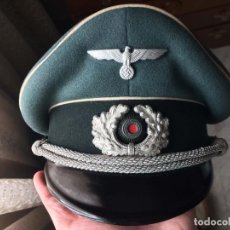Militaria: GORRA PLATO ORIGINAL OFICIAL WEHRMACHT. ALEMANIA. II GUERRA MUNDIAL. III REICH. Lote 135068071