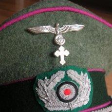 Militaria: EXCELENTE Y RARA RÉPLICA DE GORRA DE OFICIAL CAPELLAN DE LA WEHRMACHT. SIKZEN HUTE-MUTZEN. DIV. AZUL. Lote 115036479