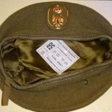 Militaria: BOINA MILITAR. EJÉRCITO ESPAÑOL. 100% LANA. TALLA 58. ELOSEGUI. 110 GR. Lote 115487787