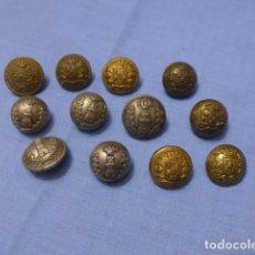Militaria: * LOTE 12 ANTIGUO BOTON ESPAÑOL ALFONSO XII Y XIII, ORIGINAL. BOTONES. ZX. Lote 115514739