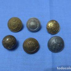 Militaria: * LOTE 6 ANTIGUO BOTON ESPAÑOL ALFONSO XII Y XIII, ORIGINAL. BOTONES. ZX. Lote 115515703