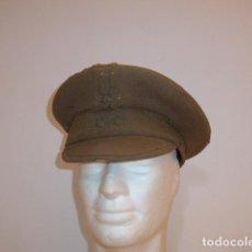 Militaria: ANTIGUA GORRA DE PLATO ESPAÑOLA, ORIGINAL DE GUERRA CIVIL Y AÑOS 40. MAL ESTADO.. Lote 117737747