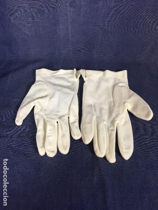 Militaria: guantes oficial algodón franco primera mitad s XX talla s 23,5cms - Foto 2 - 117930003