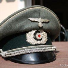 Militaria: GORRA DE PLATO OFICIAL DE INFANTERIA ALEMANA, WERMACHT, DIVISIÓN AZUL.. Lote 117987235