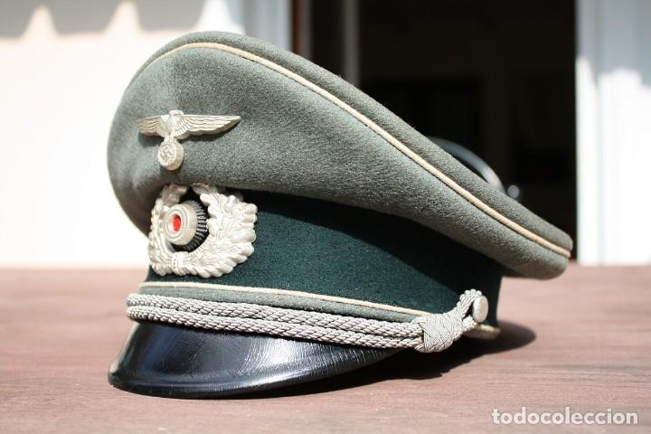 Militaria: Gorra de plato oficial de Infanteria alemana, Wermacht, División Azul. - Foto 2 - 117987235
