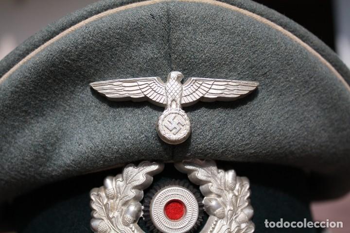Militaria: Gorra de plato oficial de Infanteria alemana, Wermacht, División Azul. - Foto 3 - 117987235