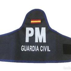 Militaria: ESTUPENDO BRAZALETE POLICIA MILITAR GUARDIA CIVIL EN AZUL, TODO EN UN PERFECTO BORDADO. Lote 118530239