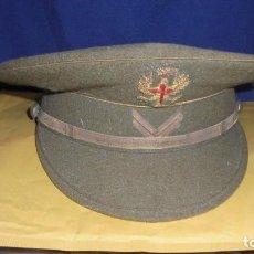 Militaria: (M) GUERRA CIVIL - ANTIGUA GORRA DE PLATO - EJERCITO ESPAÑOL,EN EL INTERIOR RUIZ MARTI BARCELONA - . Lote 118816195