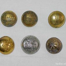 Militaria: LOTE 6 BOTONES-CALATRAVA-OP-TREN-AGRÓNOMOS-ÁGUILA-LUCAS SÁENZ-MADRID-SUPERFIN PARIS-1850-1900-BOTON. Lote 119018795