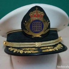 Militaria: MAGNIFICA GORRA DE PLATO CON ENTORCHADOS BANDA DE MUSICA PARECIDA A LA DE LA ARMADA. Lote 119387335