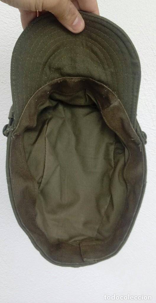 Militaria: Gorra de faena verde caqui, m1960, perfecto estado, talla M. Sidi Ifni, BRIPAC - Foto 3 - 119443243