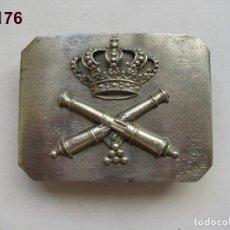 Militaria: CURIOSA HEBILLA DE TROPA DE ARTILLERÍA (COLOR PLATEADO). ÉPOCA ALFONSO XIII. ENVÍO GRATUITO.. Lote 119687583
