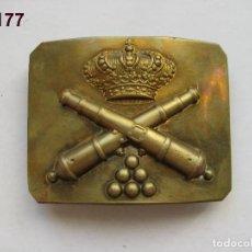 Militaria: HEBILLA DE TROPA DE ARTILLERÍA, ÉPOCA ALFONSO XIII. MARCADA CASTELLS. ENVÍO GRATUITO (CERTIFICADO).. Lote 119689203