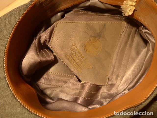 Militaria: Antigua gorra de carabineros o guardia civil, original, lastima rotura frontal. - Foto 9 - 119991515