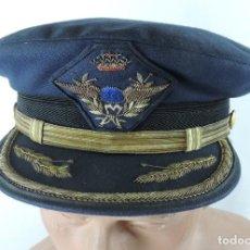 Militaria: GORRA DE PLATO DE OFICIAL DEL EJÉRCITO DEL AIRE, AVIACIÓN. EPOCA 1939-1975. ORIGINAL. MUY BUEN ESTAD. Lote 120193003