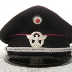 Militaria: GORRA DE PLATO ALEMANA DE OFICIAL POLICÍA EJERCITO ALEMÁN DE LA SEGUNDA II GUERRA MUNDIAL III REICH. Lote 120247315