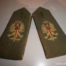 Militaria: HOMBRERAS ANTIGUAS BORDADAS CON HILO METALICO. Lote 120328627