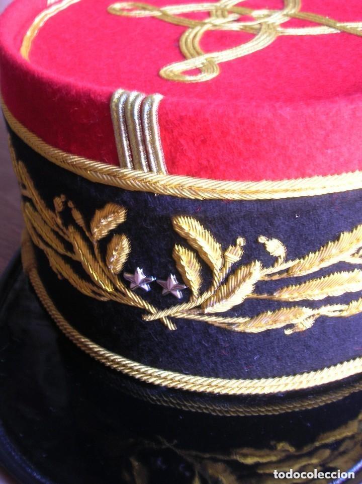 Militaria: BELLISIMO KEPI O GORRA DE GALA O PARADA DE GENERAL FRANCÉS. MODELO 1984. GRAN CALIDAD EN EL BORDADO. - Foto 3 - 120902999
