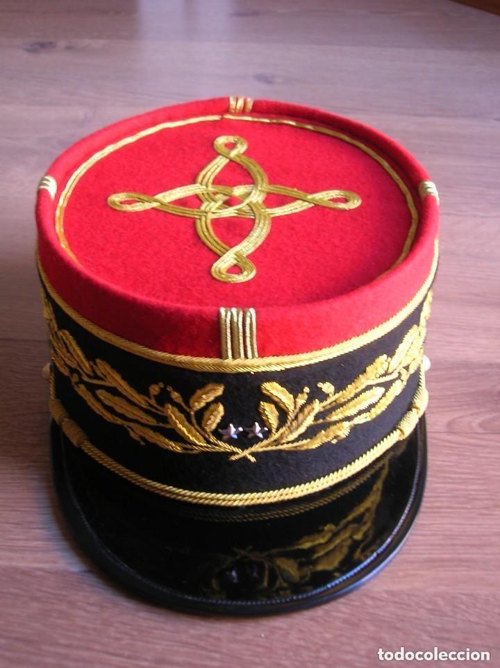 Militaria: BELLISIMO KEPI O GORRA DE GALA O PARADA DE GENERAL FRANCÉS. MODELO 1984. GRAN CALIDAD EN EL BORDADO. - Foto 5 - 120902999