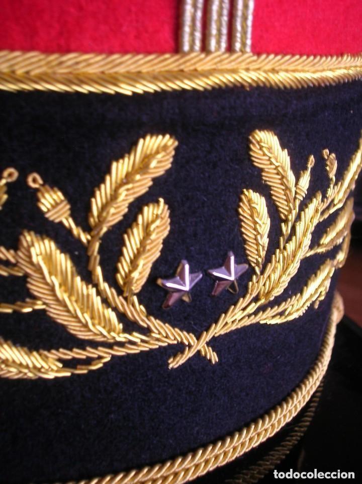 Militaria: BELLISIMO KEPI O GORRA DE GALA O PARADA DE GENERAL FRANCÉS. MODELO 1984. GRAN CALIDAD EN EL BORDADO. - Foto 8 - 120902999