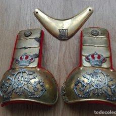 Militaria: PAREJA DE DRAGONAS Y GOLA ALFONSO XIII. Lote 121716967