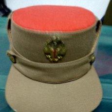 Militaria: GORRA TERESIANA DE REGULARES CON AGUILA EN EL FRONTAL. Lote 122079543