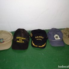 Militaria: LOTE DE GORRAS DE MARINA DE BRASIL. Lote 122097739