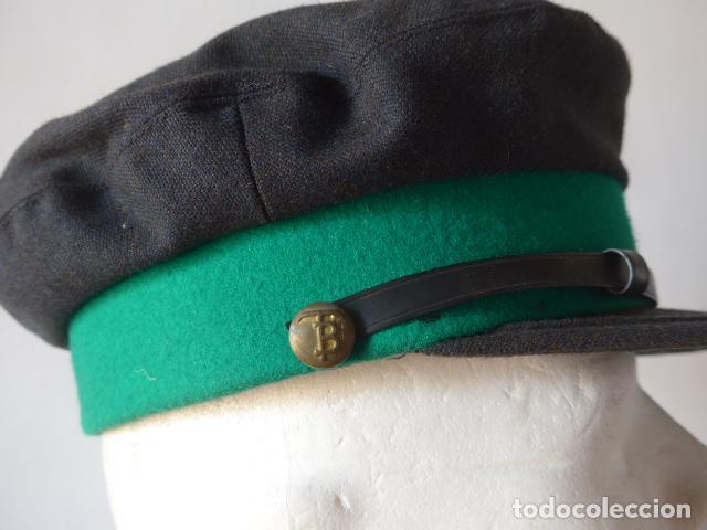 Militaria: Antigua gorra de tranvia de Barcelona, original. - Foto 3 - 122776611