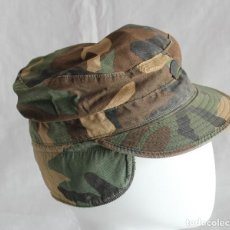 Militaria: GORRA US CAP CAMOUFLAGE PATTERN WOODLAND PRINTED CON INSIGNIA. Lote 123990195